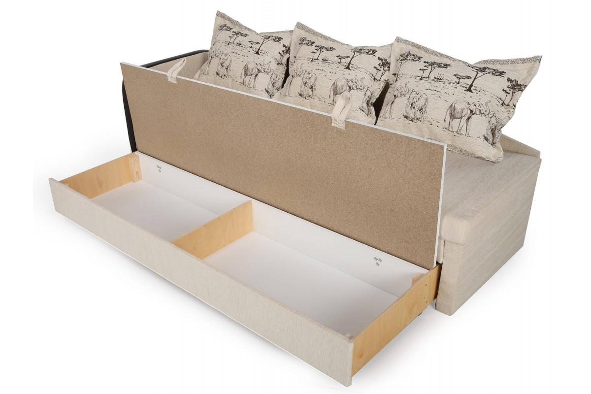 угловой диван кожаный бежевый купить