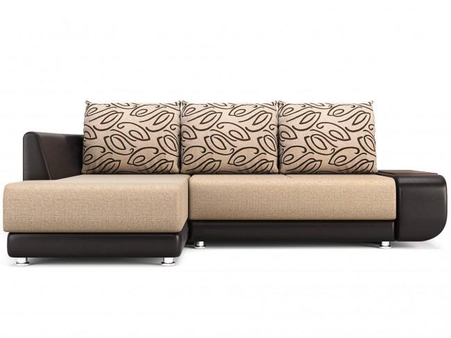 Угловой диван Поло (Нью-Йорк) Левый Пума Искусственная кожа, Текстиль Бежевый 240х85х160