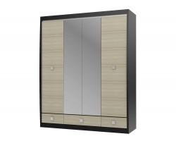 Шкаф 4-х дв. с зеркалами Cseno