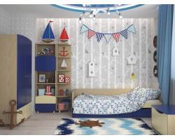 Детская стенка Капитошка в цвете Синяя Шагрень