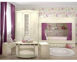 Детская стенка Ассоль Плюс в цвете Ваниль