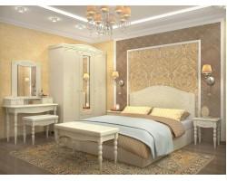 Спальня Ассоль Плюс в цвете Ваниль