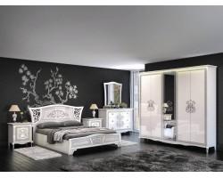 Спальня Винтаж в цвете Белый глянец