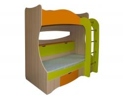 Кровать двухъярусная Незнайка (80x200) фото