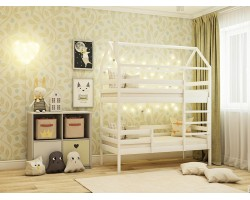 Спальня Двухярусная Кровать-домик (70х140)