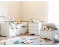 Детская стенка Прованс в цвете Белый