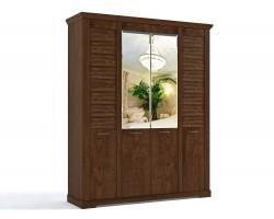Распашной шкаф Кантри в цвете Орех Рибек темный