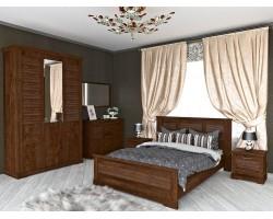 Спальня Кантри в цвете Орех Рибек темный