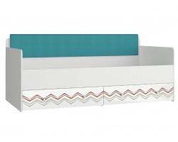 Кровать односпальная с мягким элементом - Абрис (90х190)
