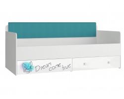 Кровать односпальная с мягким элементом - Стиль (90х190)