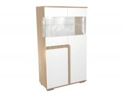 Шкаф-витрина Н25 в цвете Белый глянец