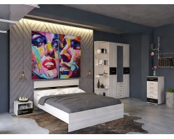Спальный гарнитур Техно в цвете Сосна карелия