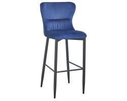 Барный стул Stool Group Лилиан вельвет темно-синий [MC151B VELVET HLR-64 DUAL]