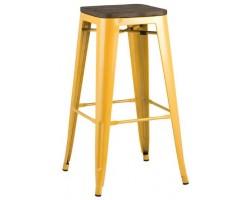 Барный стул Stool Group Tolix wood желтый [YD-H765-W LG-06]