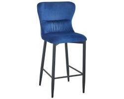 Барный стул Stool Group Лилиан вельвет темно-синий [MC151C VELVET HLR-64 DUAL]