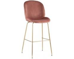 Барный стул Stool Group Beetle со спинкой пудровый [8329C PINK]