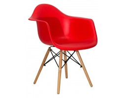 Стул Stool Group Eames DAW красный [8066 RED SEAT DUAL]