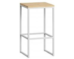 Барный стул Loftyhome Бервин [br060204] натуральный с белым основанием лофт
