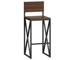 Барный стул Loftyhome Бервин 2 коричневый [br060301] лофт