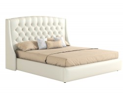Кровать двуспальная Мягкая с основанием и матрасом Стефани (160х200)