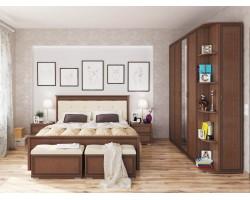 Спальня Ливорно в цвете Орех донской