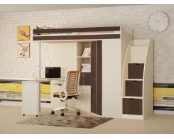 Кровать-чердак М-85 с лестницей-комодом Астра