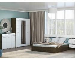 Спальный гарнитур Николь в цвете Белый глянец