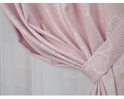 Шторы FLOWERS, цвет: розовый (120x60)