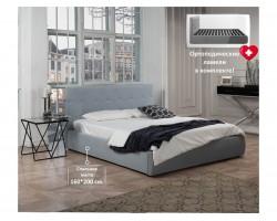 """Кровать Мягкая """"Selesta"""" 1600 серая с подъемным механи"""