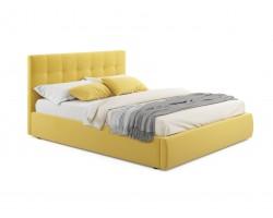 """Кровать Мягкая """"Selesta"""" 1800 желтая с подъемным механ"""