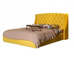 """Кровать с подъемным механизмом Мягкая """"Stefani"""" 1600 желтая"""