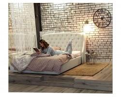 """Кровать с подъемным механизмом Мягкая """"Stefani"""" 1600 беж"""