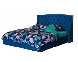 """Мягкая кровать """"Stefani"""" 1800 синяя с подъемным механизмом с"""