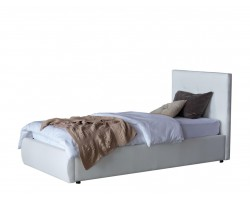 Кровать Мягкая Селеста 900 белая с подъемным механизмом