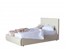Кровать с подъемным механизмом Мягкая Селета 1200 беж