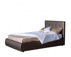 Кровать с подъемным механизмом Мягкая Селета 1200 мокко