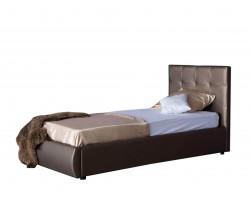 Кровать Мягкая Селеста 900 мокко с ортопед.основанием с матрасом