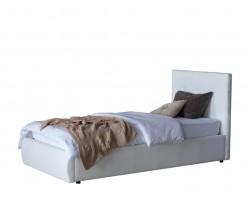 Мягкая кровать Селеста 900 белая с ортопед.основанием с матрасом