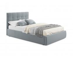 Кровать с подъемным механизмом Мягкая Selesta 1200 ерая