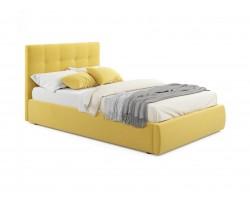 Кровать Мягкая Selesta 1200 желтая с ортопедическим основанием с