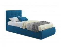 Кровать Мягкая Selesta 900 синяя с подъемным механизмом с матрас