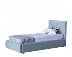 Кровать Мягкая Selesta 900 серая с подъемным механизмом с матрас