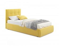 Кровать Мягкая Selesta 900 желтая с подъемным механизмом с матра
