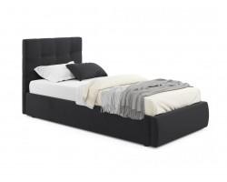 Детская кровать Мягкая Selesta 900 темная с подъемным механизмом с матра