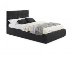 Кровать с подъемным механизмом Мягкая Selesta 1200 темная матр