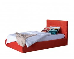 Детская кровать Мягкая Selesta 1200 оранж с ортопедическим основанием с