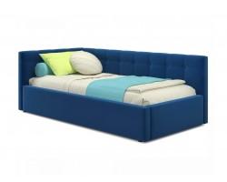 Кровать Односпальная -тахта Bonna 900 синяя с подъемным механизмо