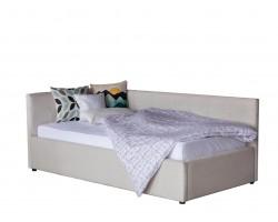 Кровать Односпальная -тахта Bonna 900 беж ткань с подъемным