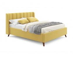 Кровать с подъемным механизмом Мягкая Betsi 1600 желтая