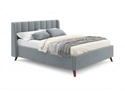Кровать Мягкая Betsi 1600 серая с подъемным механизмом